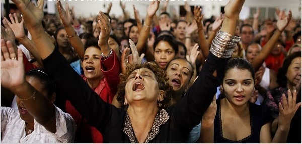 Image result for image of speaking in tongues