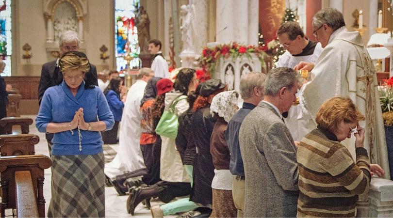 Altar Rails Facilitate Holy Communion