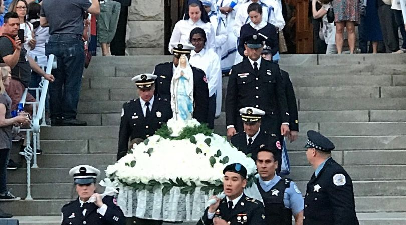 Broken Mary' Procession Through Chicago Attended by Thousands
