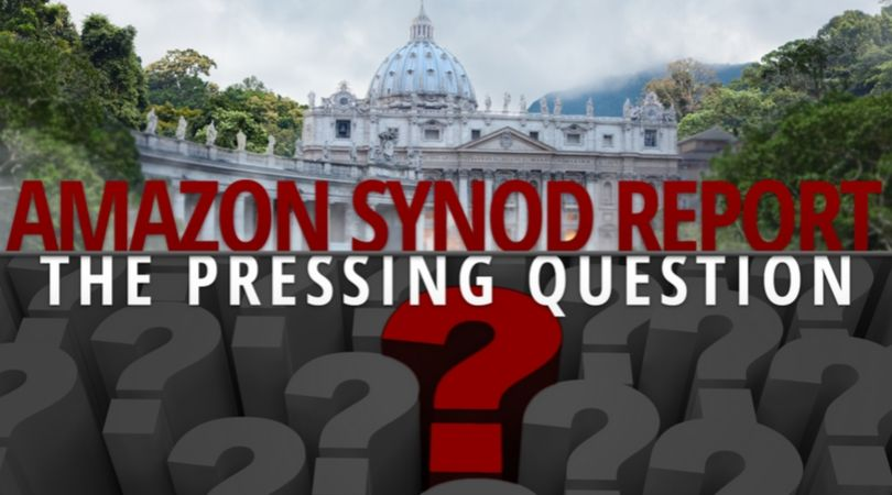 Amazon Synod Report: The PRESSING Question