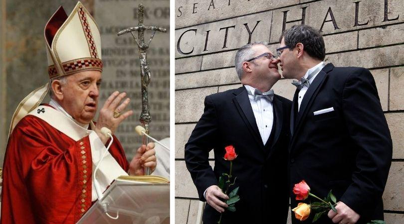 Pope Francis Backs Homosexual Civil Unions