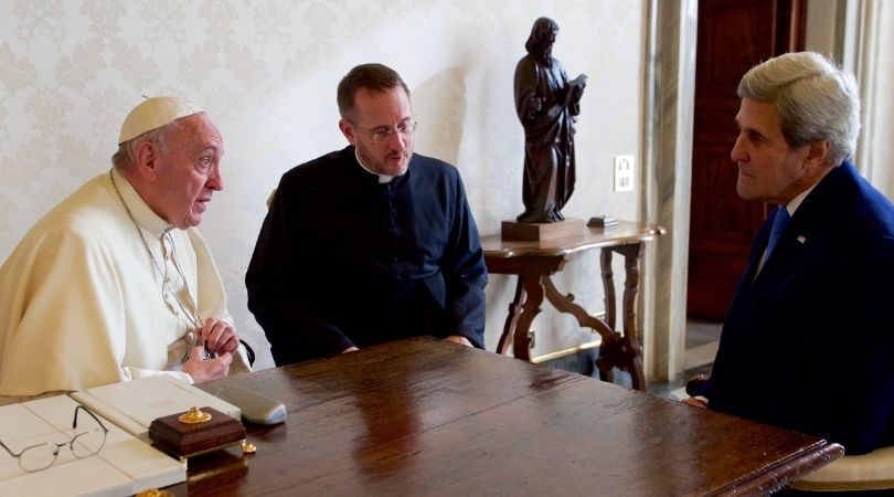 'Catholic' Kerry Hails Pope as Climate Savior