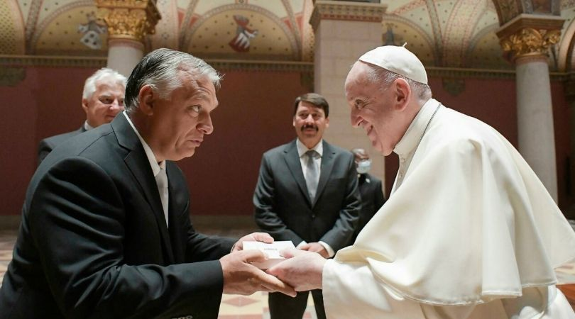 Francis, Orbán Trade Gibes at Historic Meet