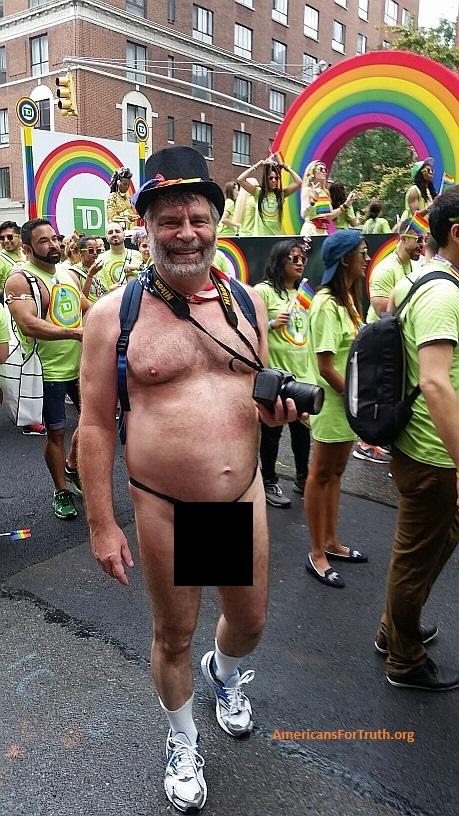 Gay pride nudity